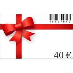 Carte cadeau anniversaire d'une valeur de 40€