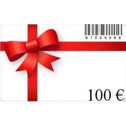 Carte cadeau anniversaire d'une valeur de 100€