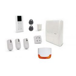 Alarme Risco Agility 4 - Alarme sans fil IP/RTC/GSM 3 détecteurs caméras sirènes extérieure