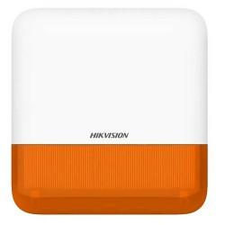 Hikvision DS-PS1-E-WE Orange - Sirène alarme extérieure radio flash orange