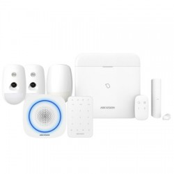 Hikvision AX Pro - Pack Alarme Pro WIFI IP 3G/4G levé doute sirène intérieure