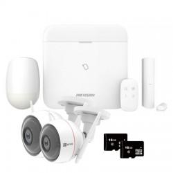Hikvision AX Pro DS-PWA64 - Pack Alarme Pro WIFI IP GPRS 2G caméras