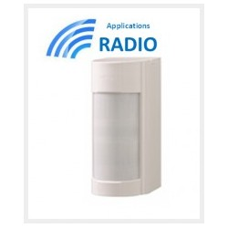 VXIRDAM - Detector de accesorios al aire libre optex doble IRP 12M 90° bajo conso IP55 ANTI-MÁSCARA