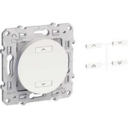 Funksender 2-tasten-multifunktions-ODACE farbe aluminium - Schneider