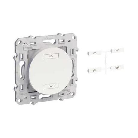 Emetteurs radio multifonctions 2 boutons ODACE couleur aluminium - Schneider