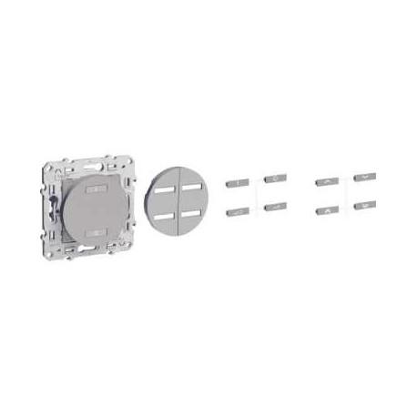 SCHNEIDER - Interrupteur sans fil radio 2 ou 4 boutons ON / OFF anthracite ODACE