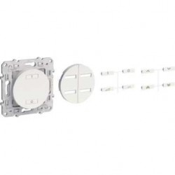 Interrupteur sans fil radio 2 ou 4 boutons variateur SCHNEIDER couleur Alu ODACE