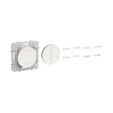 Conmutador de radio inalámbrica de 2 o 4 botones de accionamiento de velocidad variable SCHNEIDER color Alu ODACE